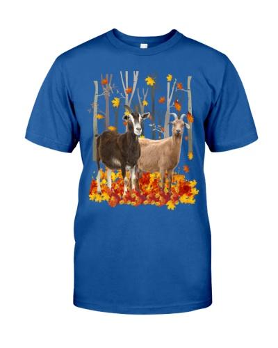 Goat autumn forest