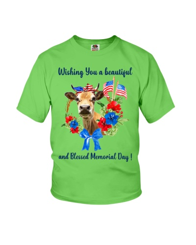 SHN 6 Wishing beautiful blessed memorial day Cow