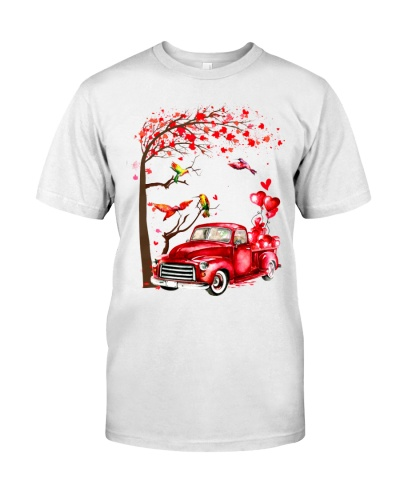 LT hummingbird couple with car heart shirt