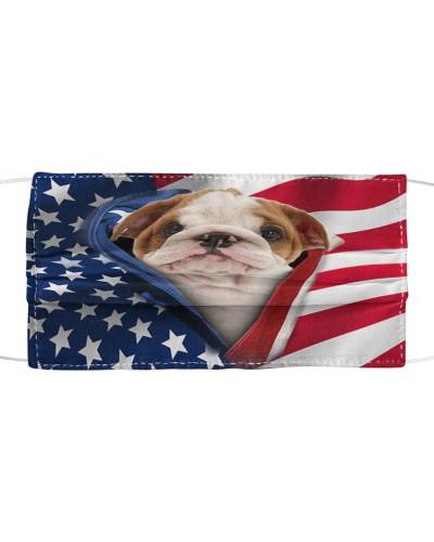 SHN 10 Opened American flag English Bulldog mask