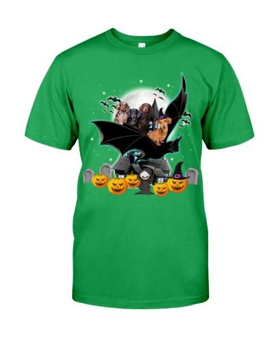 Dachshund bat halloween