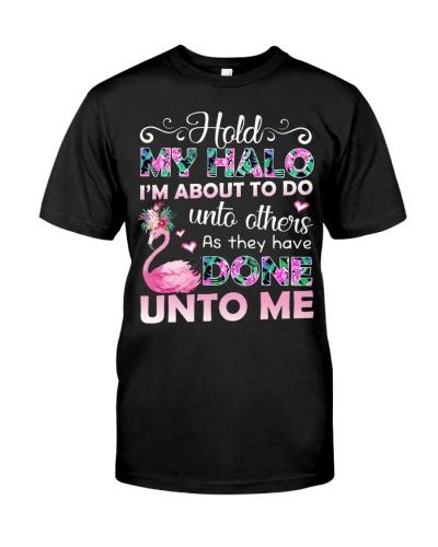 Flamingo halo shirt