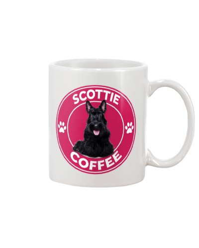 Scottish Terrier Coffee Pink