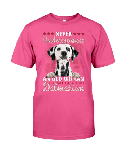Dalmatian never underestimate old woman