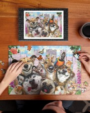 Happy pets gift for animal lover 250 Piece Puzzle (horizontal) aos-jigsaw-puzzle-250-pieces-horizontal-lifestyle-front-11