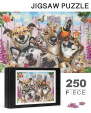 Happy pets gift for animal lover 250 Piece Puzzle (horizontal) aos-jigsaw-puzzle-250-pieces-horizontal-lifestyle-front-26