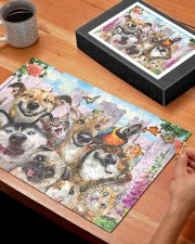 Happy pets gift for animal lover 250 Piece Puzzle (horizontal) aos-jigsaw-puzzle-250-pieces-horizontal-lifestyle-front-27