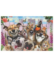 Happy pets gift for animal lover 250 Piece Puzzle (horizontal) front