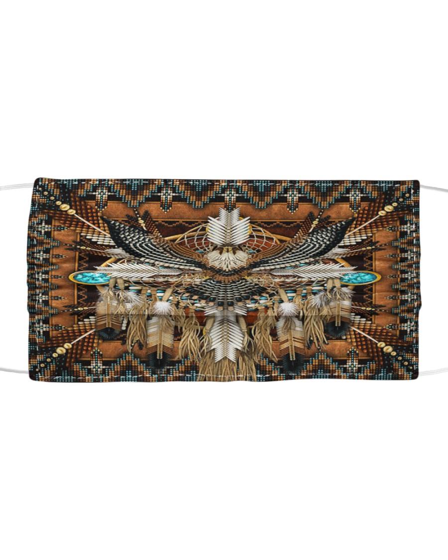 SHN 10 Brown native dreamcatcher Eagle Cloth face mask