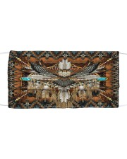 SHN 10 Brown native dreamcatcher Eagle Cloth face mask front