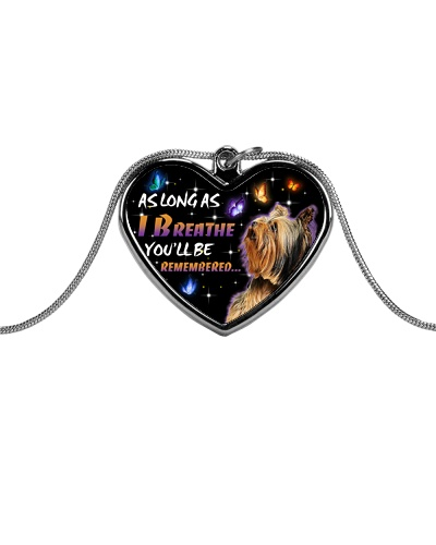 Yorkshire terrier as long as i breathe necklace