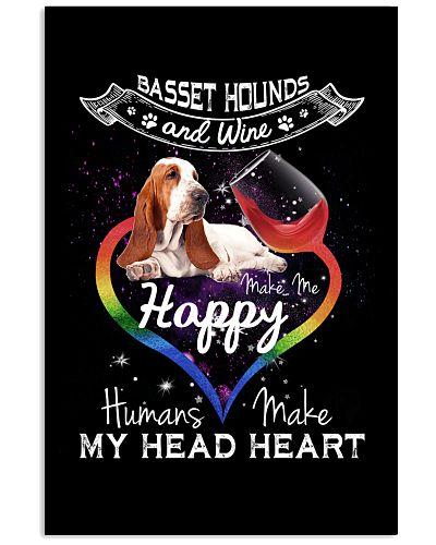 Basset hounds wine make me happy