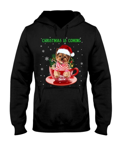 Qhn Christmas Is Coming Yorkshire Terrier Hoodie