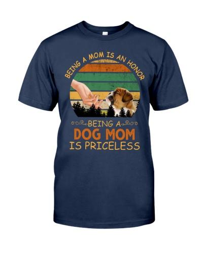 Bulldog being a dog mom