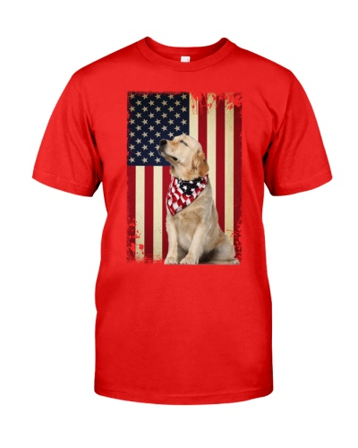 ln 5 golden retriever proud shirt