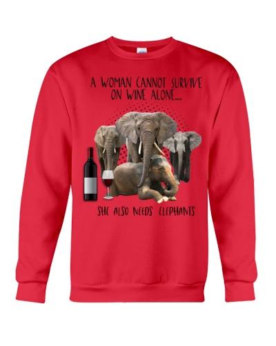 Elephants wine she needs