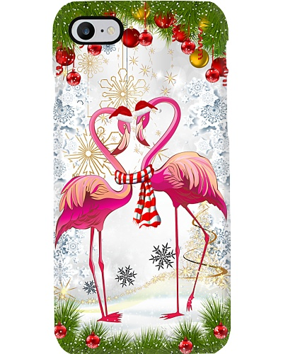 Flamingo couple sweet christmas