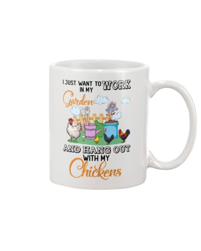 Chicken hang out mug