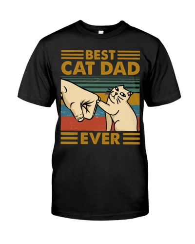 SHN 5 Best dad ever Cat shirt
