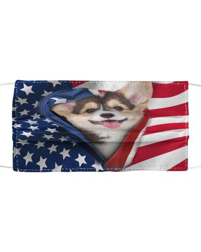 SHN 10 Opened American flag Corgi