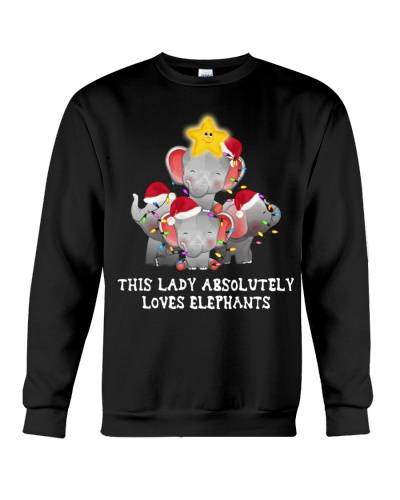 This lady loves elephants
