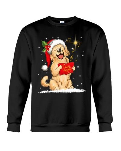 Golden retriever sing christmas song