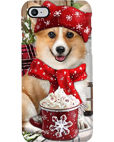 SHN 10 Christmas ice coffee Corgi phone case