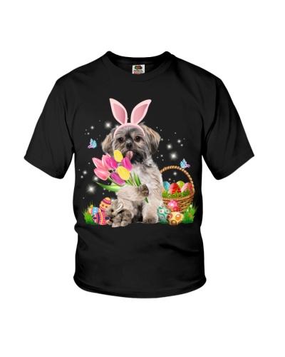 Ln shih tzu easter bunny
