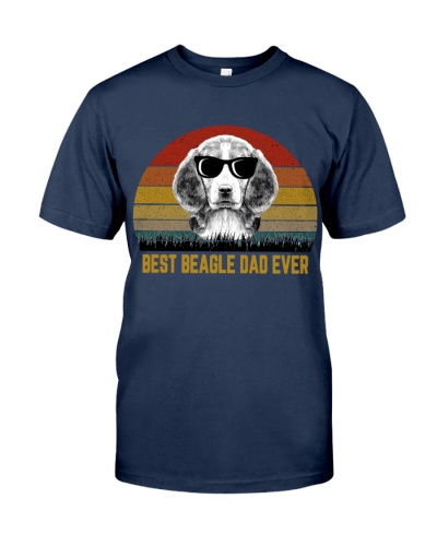 Best Beagle Dad Ever Vintage