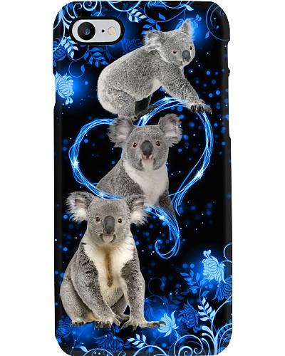 Twinkling blue heart Koala phone case