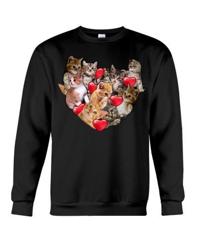 Cat baby heart valentine shirt