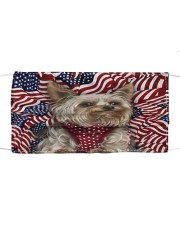TH 32 Yorkshire Terrier In USA Pattern Cloth face mask front