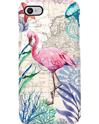 Flamingo vintage map