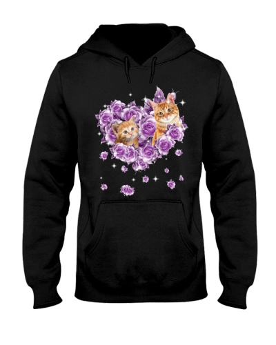 Cat mom purple rose shirt