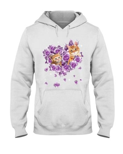 Cat mom purple rose shirt