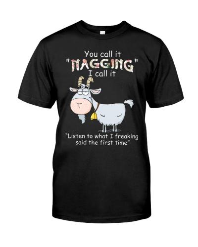 Goat nagging shirt