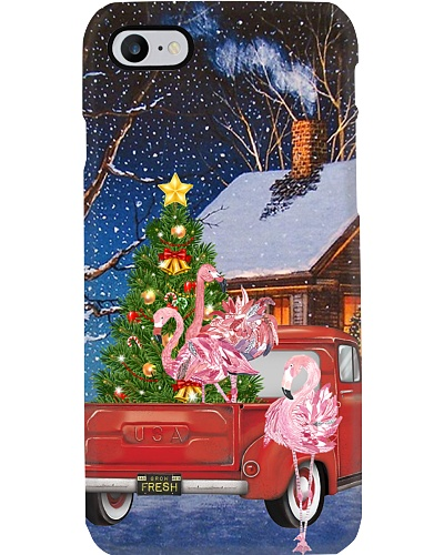 Flamingo car tree christmas phone case