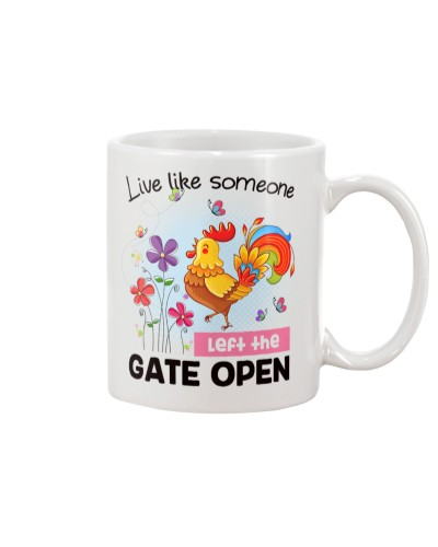 Chicken gate open