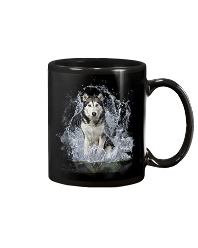 Husky With Water Line