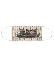 Heeler Friends Cloth face mask aos-face-mask-coverlet-lifestyle-front-01