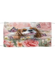 TH 2 Cavalier King Charles Spaniel Spring Cloth face mask front