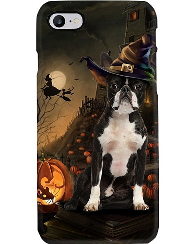 Boston terrier halloween phone case