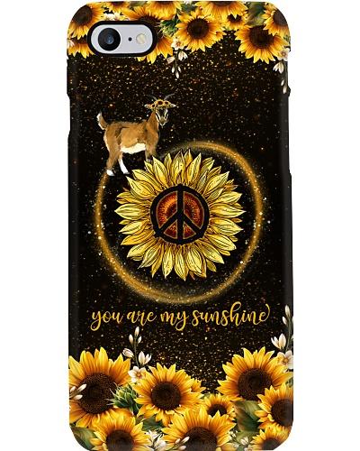TTN 5 You are my sunshine sunflower Goat case