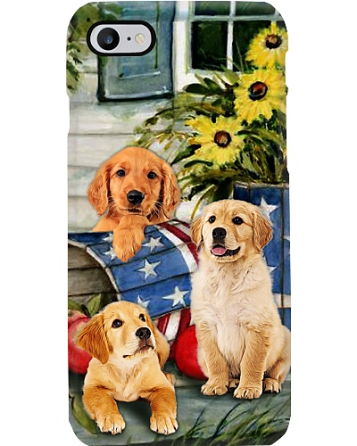 SHN 3 American wood pail daisy Golden Retriever