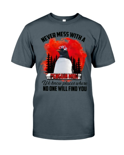 Never mess with a penguin mom shirt