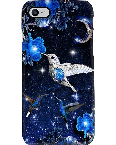 SHN 8 Mystery blue moon Hummingbird phone case