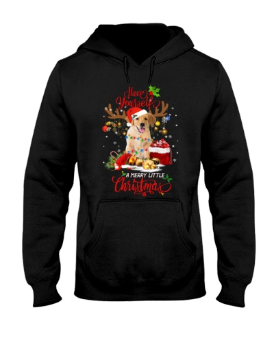 SHN 10 Reindeer Merry Christmas Golden Retriever