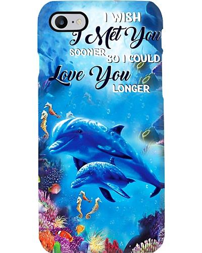 SHN I wish I met you sooner Dolphin phone case