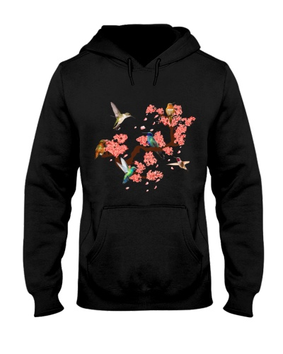 Hummingbird with Cherry Blossom