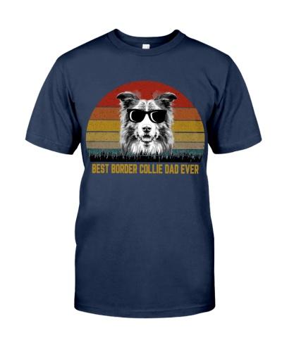 Best Border Collie Dad Ever Vintage
